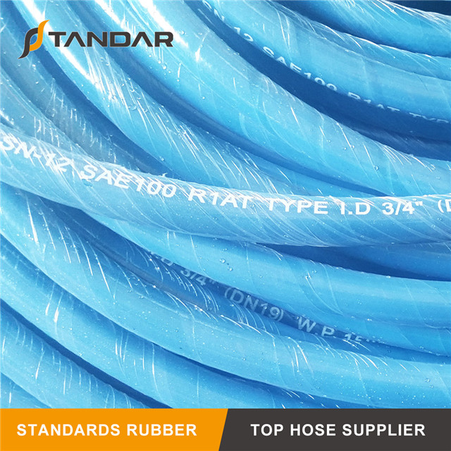 SAE100 R1AT Stainless Steel Wire Braided Reinforced Hydraulic Hose
