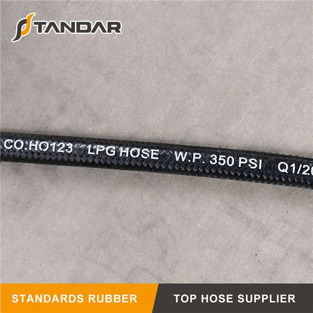 High Pressure Flexible Hydraulic Rubber propane Compressed Natural Gas CNG Hose pipe
