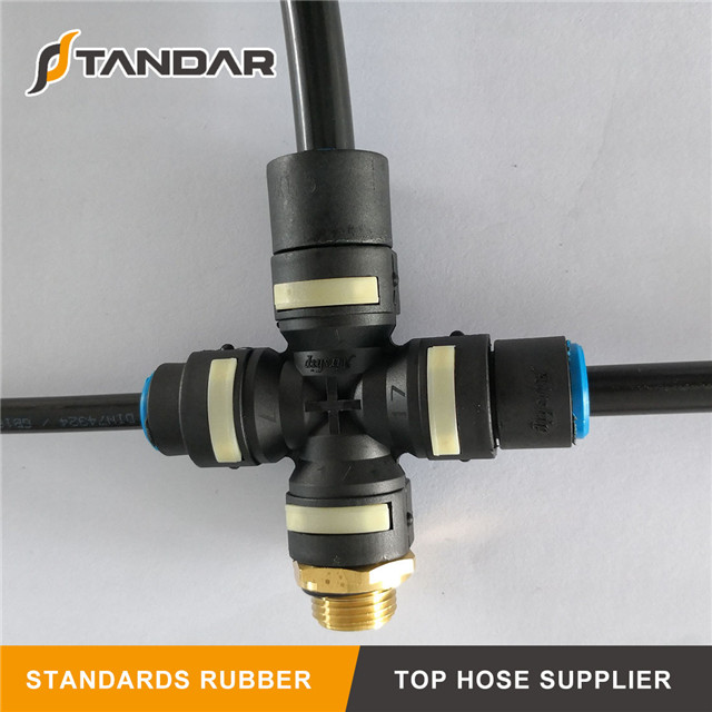 Air Hose Quick Connect Nylon Pneumatic Coupling Fittings
