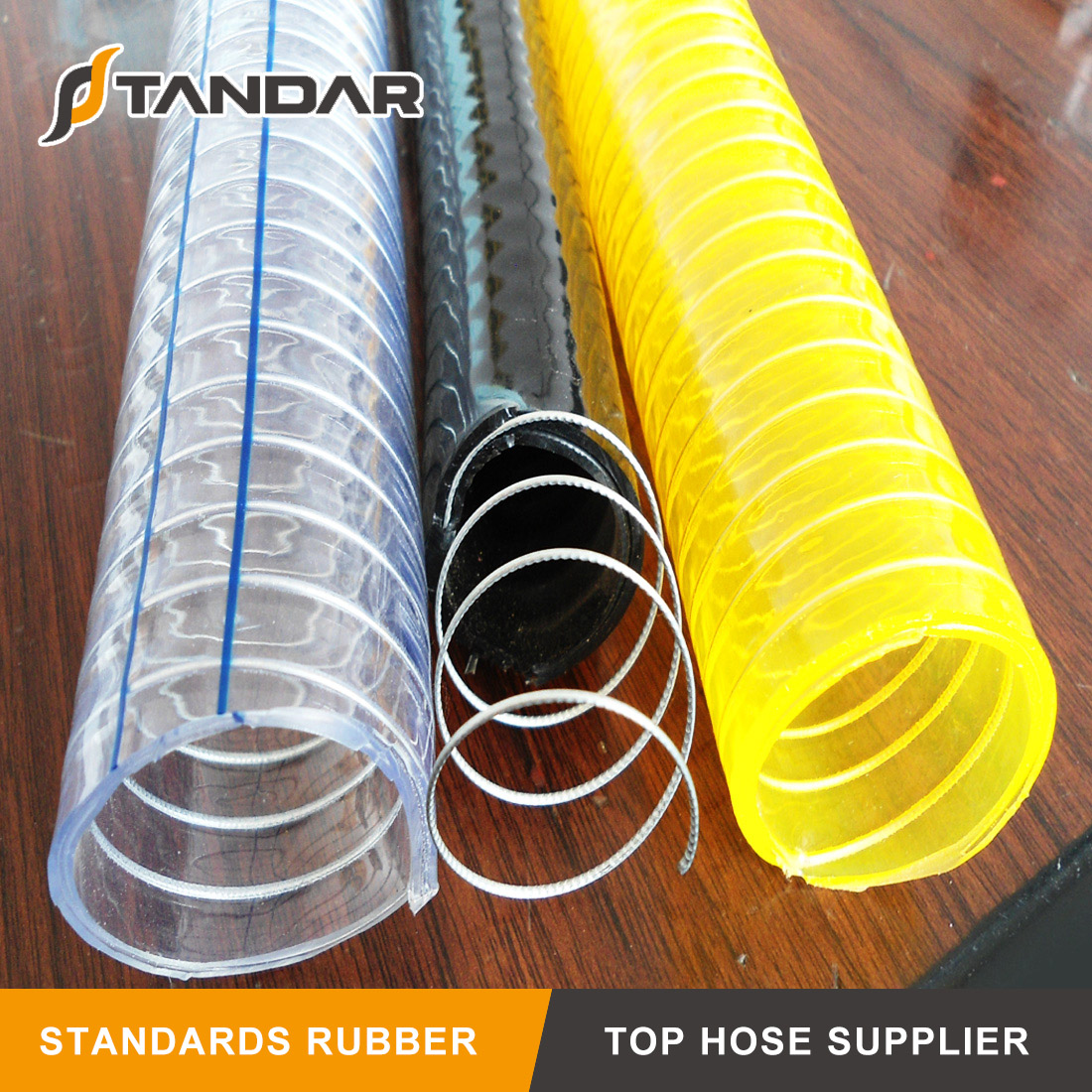 Pvc Anti Static Spiral Steel Wire Polyester Reinforced