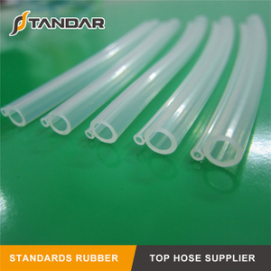 Food Grade Heat Resistant clear thin wall platinum cured Silicone Tubing