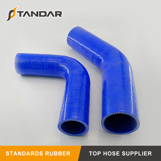 Colorful Flexible 45 Degree Reducer Automotive Silicone Hose