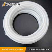 High Temperature FDA Fabric Braided reinforced Silicone Hose