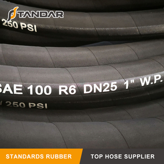 SAE100 R6 Textile Reinforced Hydraulic Rubber Hose