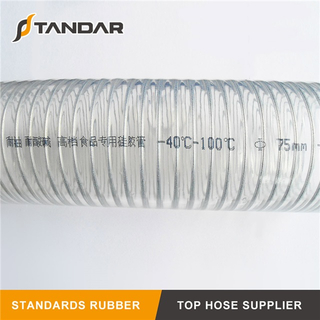 High Temperature clear platinum cured thin wall soft custom Food Grade Silicone Hose
