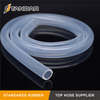 High Temperature platinum cured thin wall Transparent Food Grade Silicone tubing