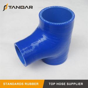 Flexible custom high temp T-Shaped Nylon reinforced Braided Auto Silicone radiator Hose