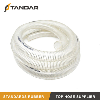 High Pressure Transparent FDA Stainless Steel Wire Reinforced Silicone Hose